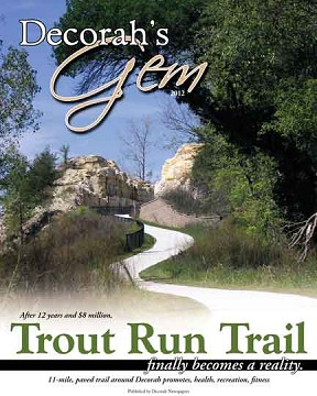 Inside Thursday's Decorah Journal is a special 28-page tabloid edition about Decorah's new Trout Run Trail. Official grand-opening ceremonies are planned for this weekend. (Cover design by Stephanie Langreck)