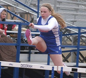 Maria Hoyme finished 12th in the 100-meter hurdles Friday. (Photo by Jennfier Bissell)