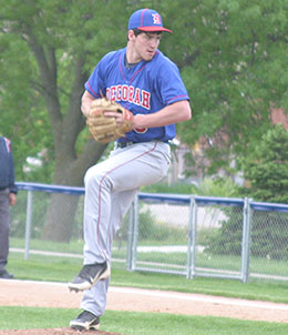 Decorah's Josey Jewell took the mound in the first game against Maquoketa Friday. (Photo by Jennifer Bissell)