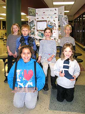 Carrie Lee students showing their inventions at the recent regional competition are (front, left to right) Serena Sweet and Morgan Moen; (back, left to right) Rachel Mikkelson, Cole Huebner, Grace Neal and Ethan Stravers. (Submitted photo)