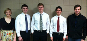 From left: Aidan Spencer, Blake Taylor, Nick Vande Krol, TJ Misseldine, Brad Suhr. (Submitted photo)