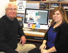 Managing Editor Rick Fromm and Sports Editor Jennifer Bissell.