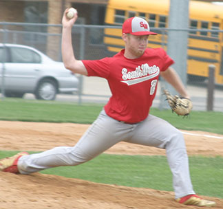 Pitcher Wyatt Opperman picked up both wins at the Waukon tournament Saturday. (Photo by Jennifer Bissell)