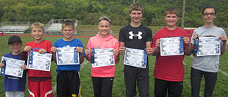 Advancing from Decorah in punt, pass and kick