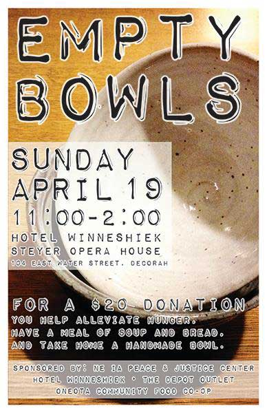 Empty Bowls is Sunday