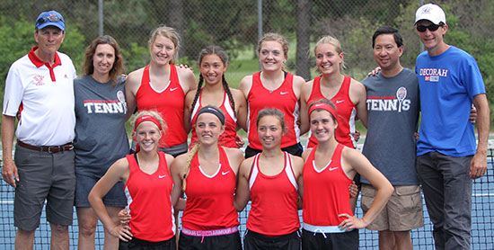 In the final four; Decorah girls tennis two matches away from state title
