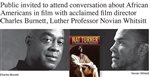 Acclaimed filmmaker to visit Luther College