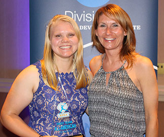 Anna Strien (L) pictured with Head Coach Renae Hartl. (Photo submitted)