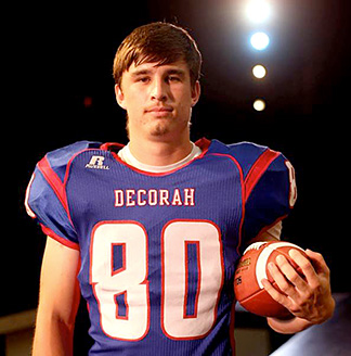 Decorah's Carston Baumler was chosen to compete in the annual Shrine Bowl in July.