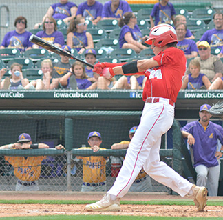 Noah Tieskoetter started Saturday's quarterfinal with a double for the Warriors. (Photo by Becky Walz)
