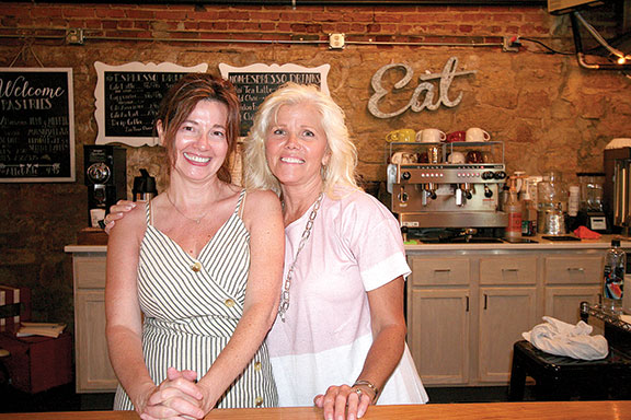 "Sisters, ""best friends"" and co-owners Wendy Eiden, left, and Diana Wilson-Thompson, did  most of the renovation work themselves. (Photos by Julie Berg-Raymond)"